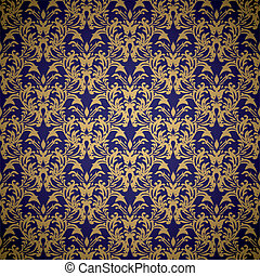 floral royal wallpaper - Golden floral seamless background...