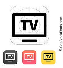 Flatscreen TV icon.  - Flatscreen TV icon