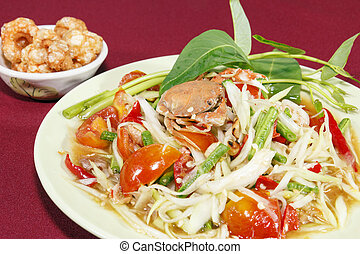 Green papaya salad - The thailand Green papaya salad
