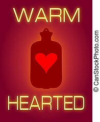 Warm Hearted - Illustration of a heart shape inside a hot...