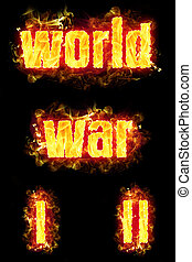 World War Fire Text