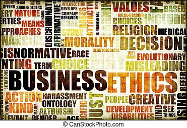 negócio, ética