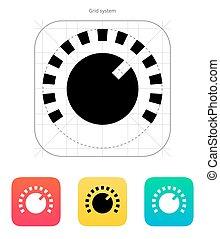 Music knob icon.
