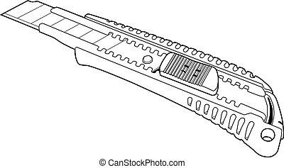 Illustration of paper knife.