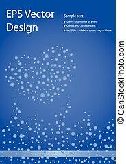 Brochure design template - Romantic brochure design template...