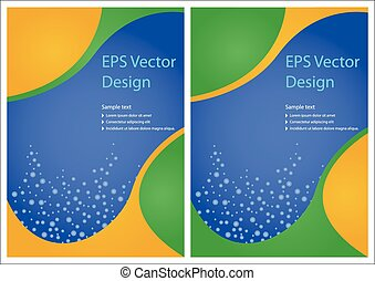 Vector brochure designs - Stylish vector brochure designs