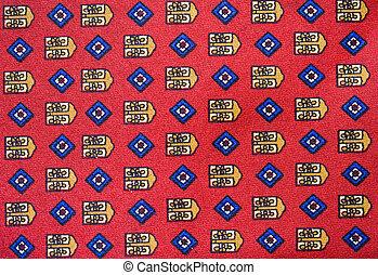 Necktie background - Close up of a silk necktie pattern