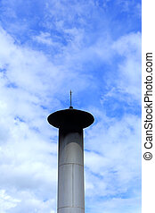 chimney on blue sky