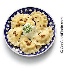 pierogi dumplings, polish food - homemade pierogi dumplings,...