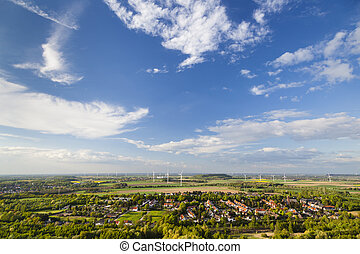 West German Wind Energy Landscape - Flat west German...