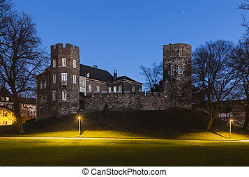 Frankenberg Castle At Night, Aachen - Burg Frankenberg in...