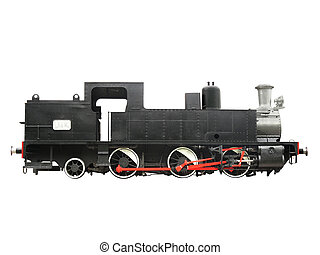 Antique Locomotive 2 - Antique Steam Locomotive isolated...