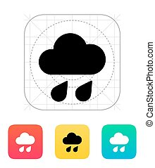 Downpour weather icon.