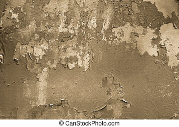 Grunge - Grungy background, wall with painting falling apart