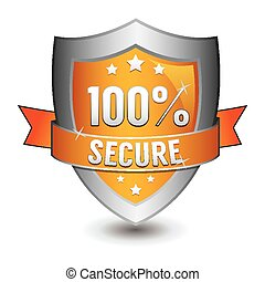 100% secured protection orange