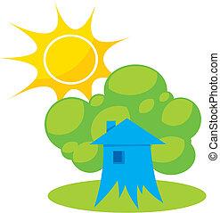 Greener home 1 vector