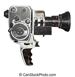 Antique film camera isolated