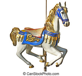 Carousel\'s horse - An isolated horse of a carousel