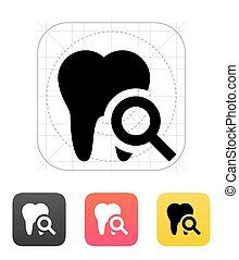 Tooth diagnostic icon. - Tooth diagnostic icon on white...