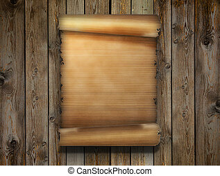 sheet of papyrus - blank sheet of papyrus on wooden surface