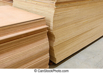 set of wood pine timber for construction building