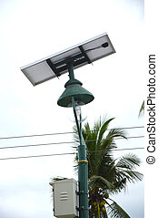 street lights with solar panels
