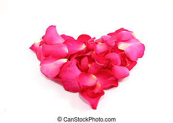 Rose petals heart - heart made from Rose petals