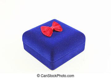 Blue velvet box