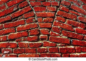 Red Brick Wall - Vivid red brick wall texture