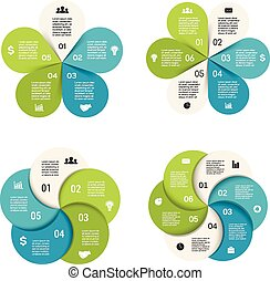 Vector circle infographics set Template for cycle diagram,...