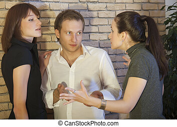 conflict between lover and wife - conflict between man and...