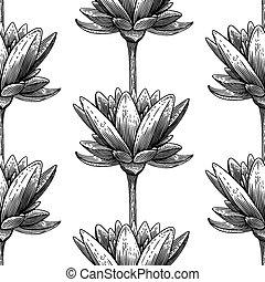 Engraved lotus
