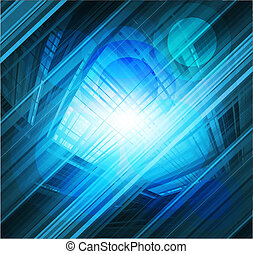 Virtual technology blue background