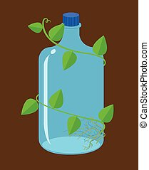 water bottles bioplastic vector