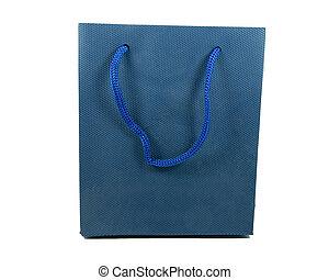 blue bag on white background
