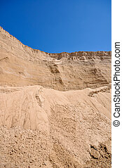 sand pit and blue sky - the sand pit and a blue sky