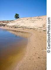 water in the sand pit - the water lake in the sand pit