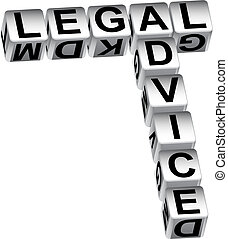 Legal Advice Dice - Legal advice dice isolated on a white...