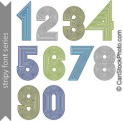 Stripy geometric numbers - Stripy geometric numbers made...