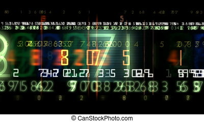 digital display - Digital scoreboard Numbers of different...