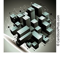 Geometric abstract 3D object