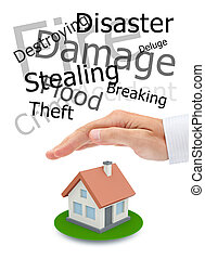 Protecting of your real estate. Conceptual image