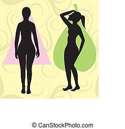 pearspoonbody - Vector Illustration of female body shape...