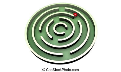 Workaround - Red ball into the center of the green maze....
