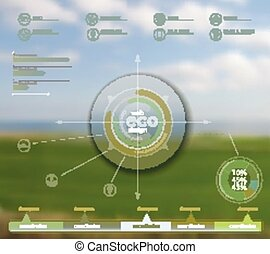 Eco vector backgroung - Vector web and mobile interface...