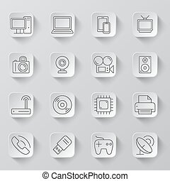 Technology and Electronics Icons