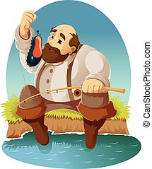 Cartoon fisher