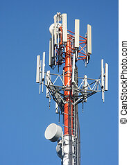 Cylindrical antenna - A cylindrical relay mast antenna with...