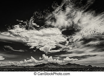 Monsoon Clouds in Arizona, USA - Scary cloud buildup in sky...