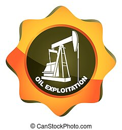 Oil exploitation station, pumping unit abstract illustration